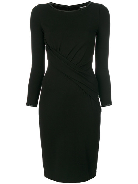 Emporio Armani dress midi dress women midi spandex black