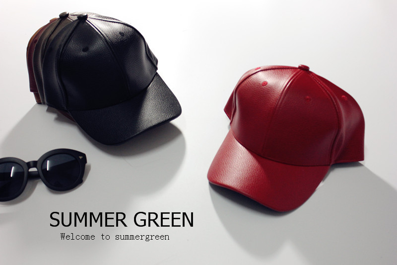 shop fashion men leather cap solid color black baseball caps summer outdoor online india mens
