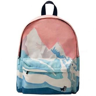 bag backpack pink cool fashion style trendy back to school light pink cute teenagers