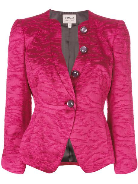 Armani Collezioni jacket women jacquard purple pink