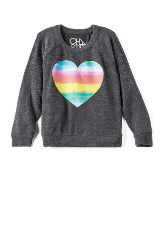 heart rainbow black top