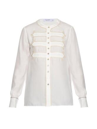 shirt long silk top