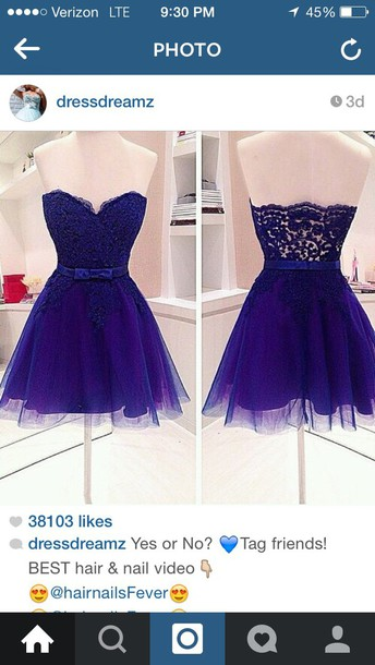 dress blue lace dress
