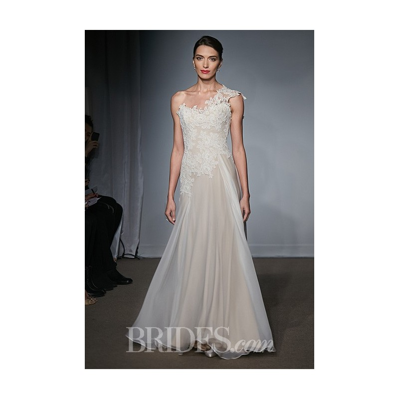 Anna Maier ~ Ulla-Maija - Fall 2014 - Roselle One-Shoulder Lace and Tulle A-Line Wedding Dress - Stunning Cheap Wedding Dresses|Prom Dresses On sale|Various Bridal Dresses