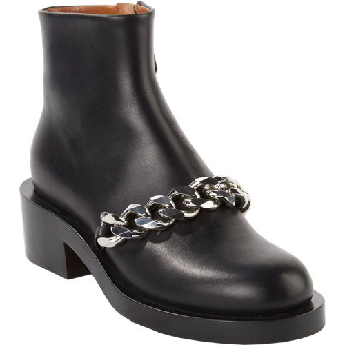 Givenchy Laura Chain-Link Ankle Boots at Barneys.com