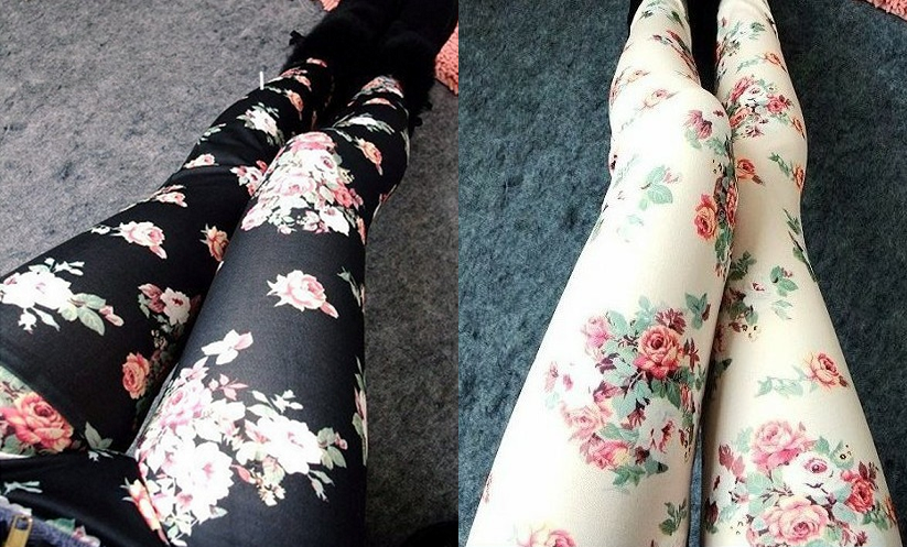 Floral print leggings · tokyodolls · online store powered by storenvy