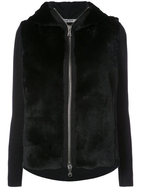Transit sweatshirt fur women black wool sweater