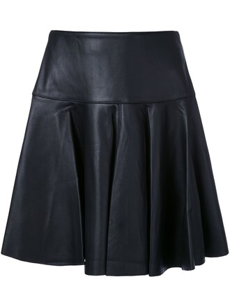 skirt women leather black