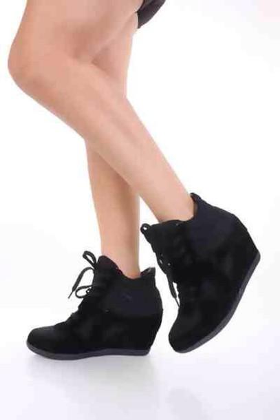 shoes black wedges wedge sneakers heels coral designer gorgeous