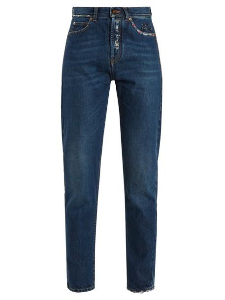 Saint Laurent jeans high blue