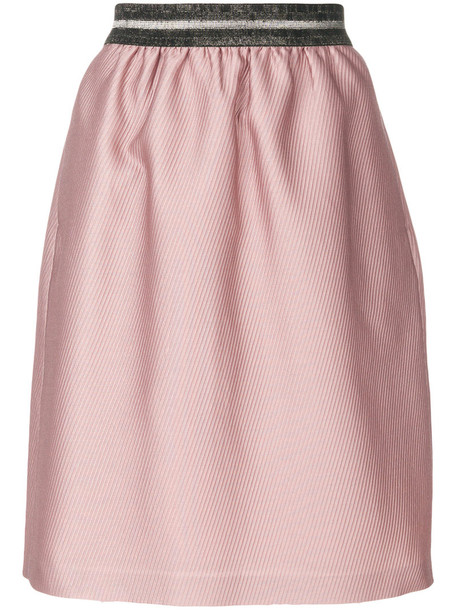 Luisa Cerano skirt tulip skirt women cotton purple pink