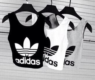 top adidas shirt fashion style grunge tank top grunge t-shirt