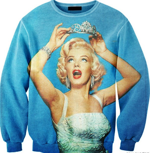 Marilyn monroe immortal princess print sweater – glamzelle