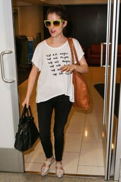 t-shirt,anna kendrick,purse,bag