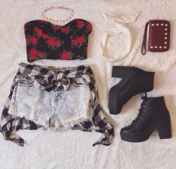 shoes ankle boots boots black crop tops shirt wallet top black top top flowers