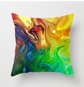 colorful,trippy,pillow