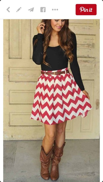 skirt long sleeves black red white stiped skirt striped dress summer outfits summer summer dress fall outfits boots country style