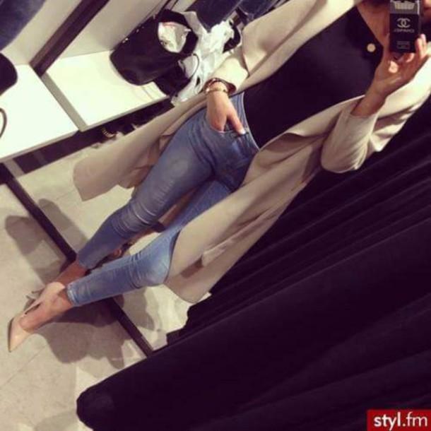 coat beige jacket manteaux beige glamour charme cardigan beige long coat jacket cream long pretty soft warm nude