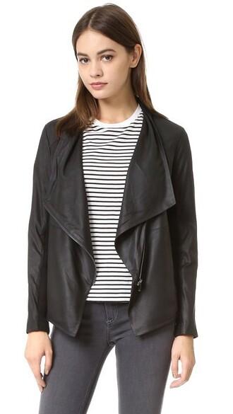 jacket leather jacket soft leather black