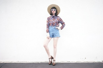 a fashion nerd blogger coat shorts hat shoes sunglasses