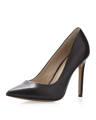 Pour la Victoire Easton Pointy Toe Pump, Black - Neiman Marcus Last Call
