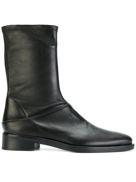 MAISON MARGIELA women ankle boots leather black shoes