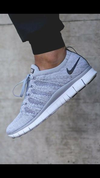 shoes grey nike air grey sneakers nike nike flyknit nike sneakers nike running shoes nike shoes wolf grey run workout flyknit