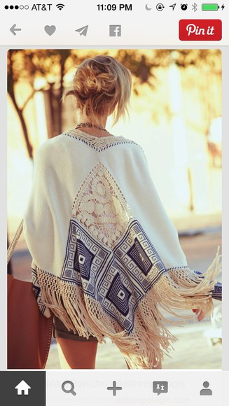 style fashion clothes sweater anthropologie poncho