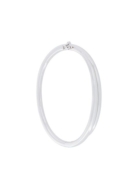 SHAUN LEANE women silver white grey metallic jewels