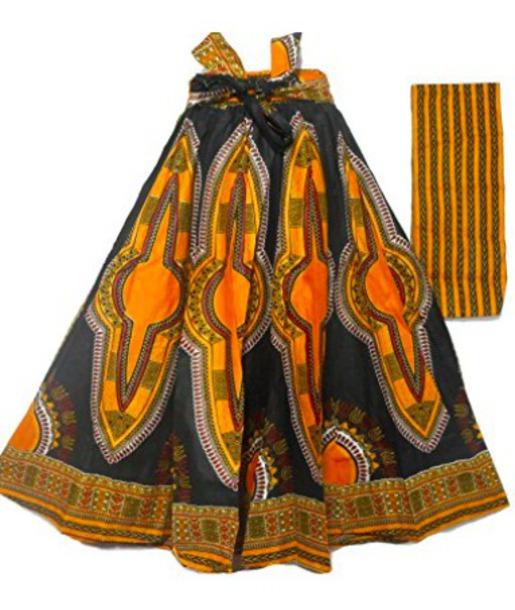 skirt tribal pattern aztec boho maxi skirt nicki minaj style african print orange dress black dress