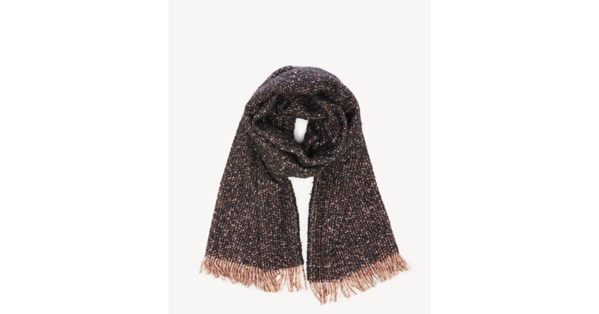 Speckled Scarf with Fringe