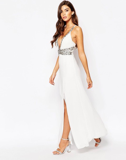 White Silver Cocktail Dresses
