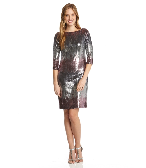 Versailles Sequin Dress-Multi Color-XS