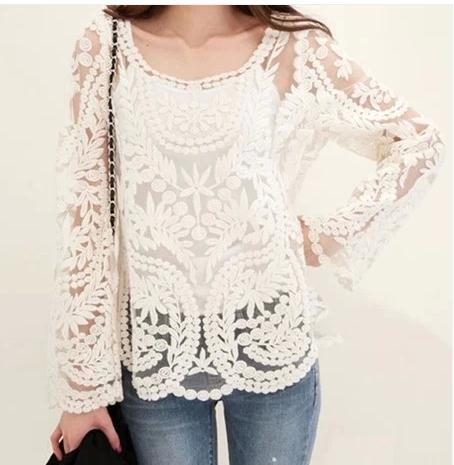 Cute lace blouse for girls / fanewant