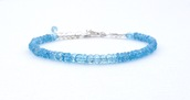 jewels,festive By Nature,bracelets,blue topaz,gift ideas,summer bracelet,gemstone