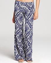 pants,blue,pattern,palazzo pants