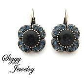 jewels,siggy jewelry,jewelry,earrings,charcoal,graphite,blue,sparkle,drop earrings,lever back earrings,gift ideas,gifts for her,mothers day gift idea,fashion,style,bling,Accessory,accessories,glamour,etsy,beauty fashion shopping,trendy,streetwear,streetstyle,moda,fashionista,designer jewelry