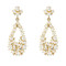 Pealized drop earrings with crystal embellishment