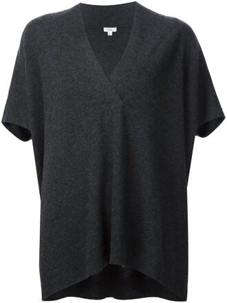blouse grey top