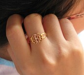 jewels,monogram ring,bridesmaids gift,birthday gift,personalized ring,name ring,handmade ring,jewelry ring,present ideas,memorial gift,monogram,monogrammed,bridesmaids gift jewelry,handcrafted,best gifts,adjustable ring,dainty jewelry