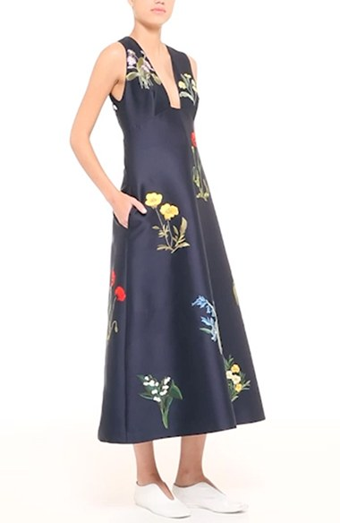 Stella McCartney Floral embroidered dress