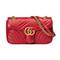 Gucci - gg marmont matelassé shoulder bag - women - leather/microfibre - one size, red, leather/microfibre