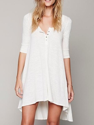 dress girl girly girly wishlist white white dress button up high low dress