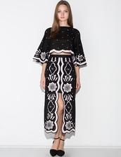 skirt,alice mccall i will follow skirt,alice mccall,front slit skirt,floral midi skirt
