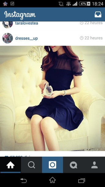 dress black dress cute dress korean fashion