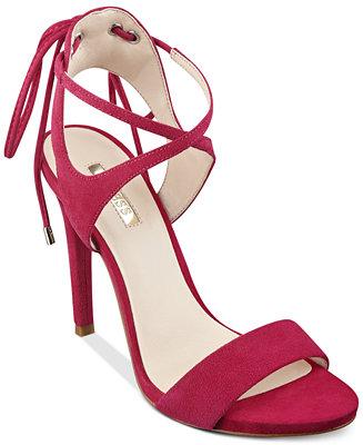 GUESS Christa Two Piece Lace Up Dress Sandals Sandals
