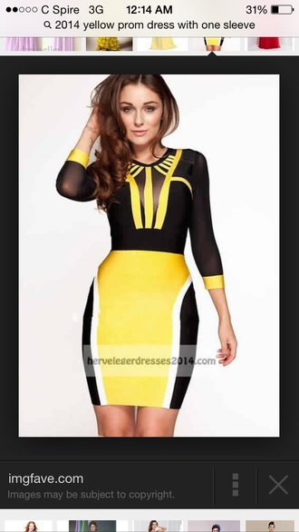 dress black and yellow dress