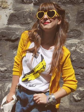 velvet underground valentine yellow shirt