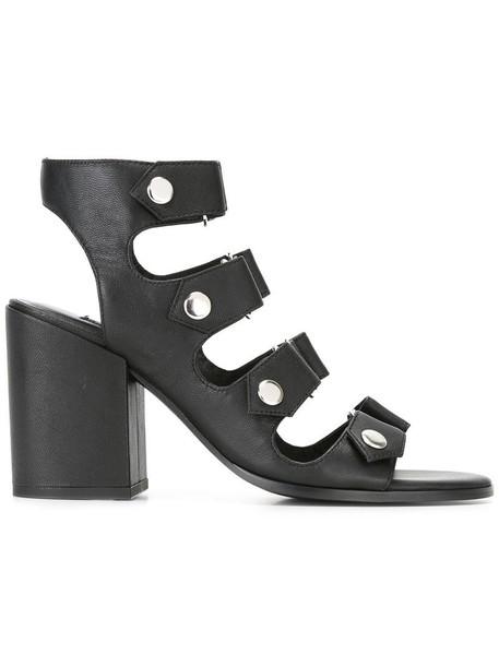 Senso women sandals leather black shoes