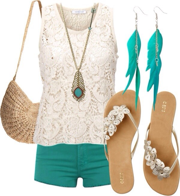 shorts jewels bag blouse